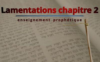 Lamentations de Jérémie chapitre 2